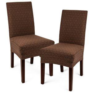 potah na židli Comfort Plus  hnědá